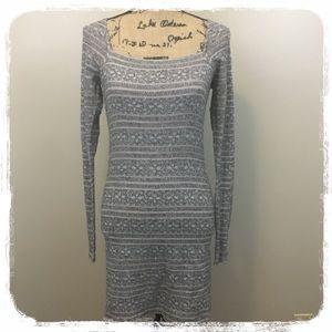 Free People Gray/Lilac Lightweight Sweater Dress M